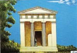 Σχεδιαστική αναπαράσταση του ναού.
