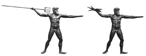 Αναπαράσταση του θεού: ως Ποσειδών και ως Ζευς