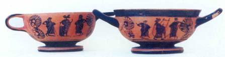 Σκύφοι από τάφο της Ερέτριας (5ος π.χ. αι.)